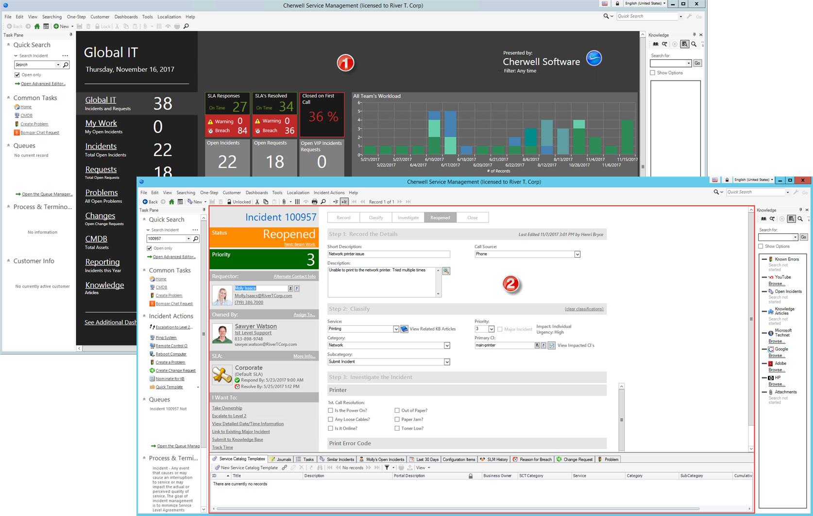 Tour the CSM Desktop Client User Interface