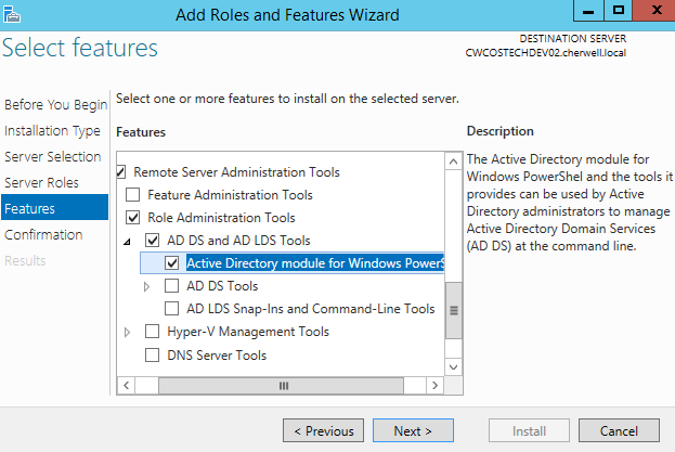 Configure PowerShell for Active Directory Orchestration Pack