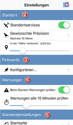Konfigurieren von Cherwell Mobile-App-Einstellungen auf einem iOS-Gerät