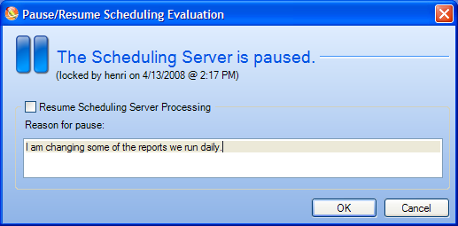 Step 2: Make Sure Someone Did Not pause the Scheduling Server