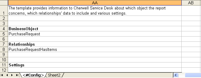 create a excel template