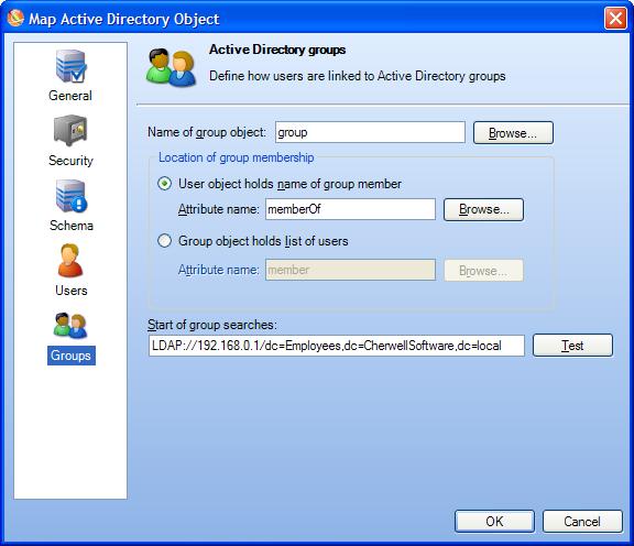 Define LDAP Groups