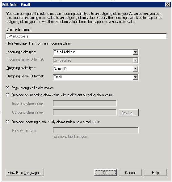 Use E Mail Address As The Name Id