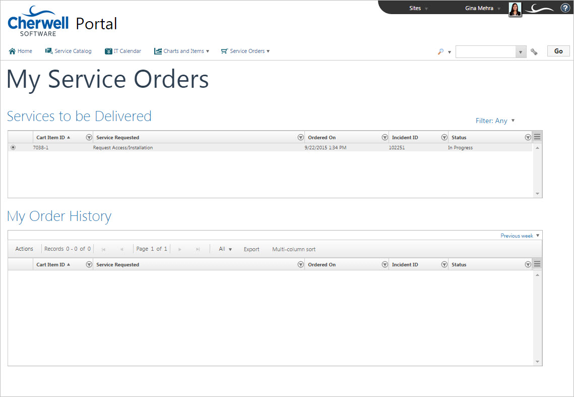 service orders