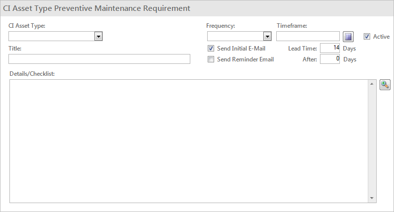 Define Maintenance Requirements