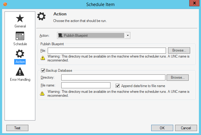 Define publish blueprint action options malvernweather Images