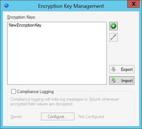 Configure Encryption Keys for a CSM Server or Web Application