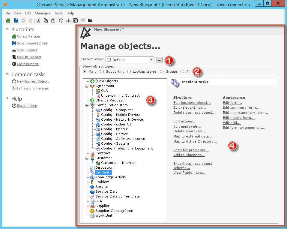 Object manager in the blueprints section of the blueprint editor task pane click object manager malvernweather Images