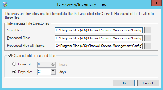 configure the configuration scheduling server