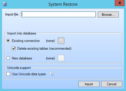 System Restore Tool