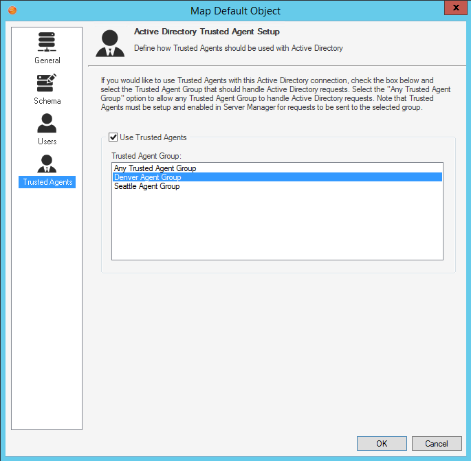 Using Trusted Agents Server with LDAP