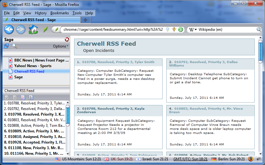About RSS Feeds
