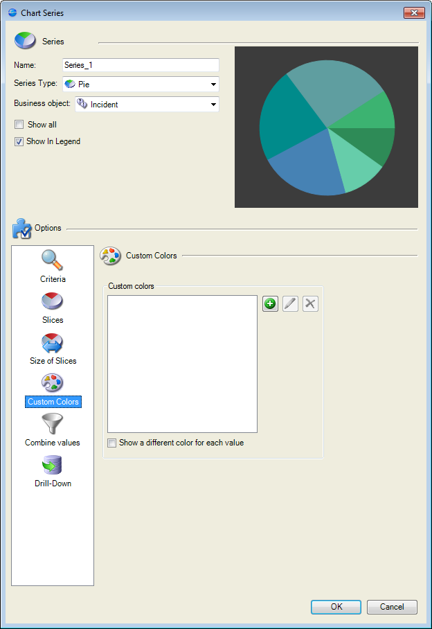 Define A Custom Color For A Slice In A Pie Chart Widget